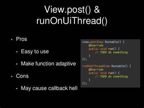 android runonuithread android thread