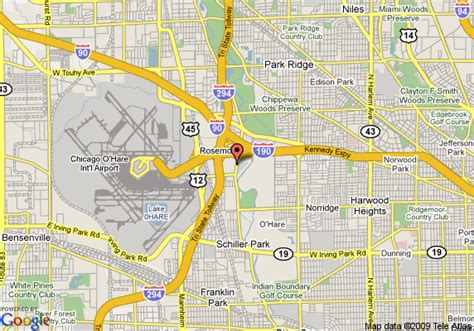 des plaines il map of sofitel chicago des plaines