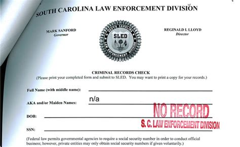 Sc Criminal Record Check Driver Background Check Questions Sle Employee
