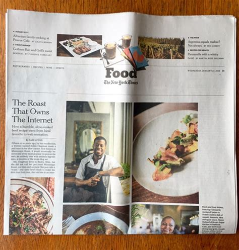 new york times food section chef edouardo jordan featured in the new york times slog