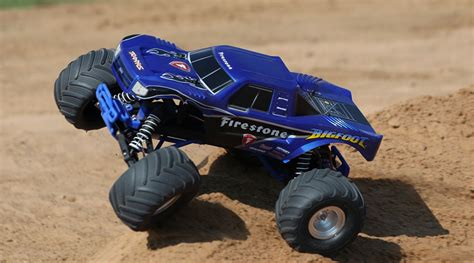 firestone bigfoot monster truck 1 10 bigfoot 2wd monster truck brushed rtr firestone