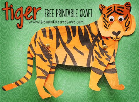 tiger template printable tiger printable craft