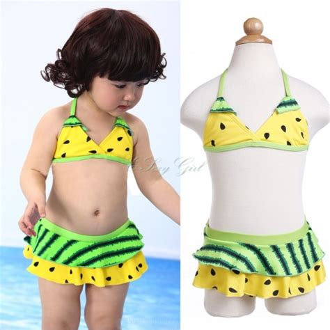 Girlset Kp Yellow Style set biquini infantil new fashion yellow