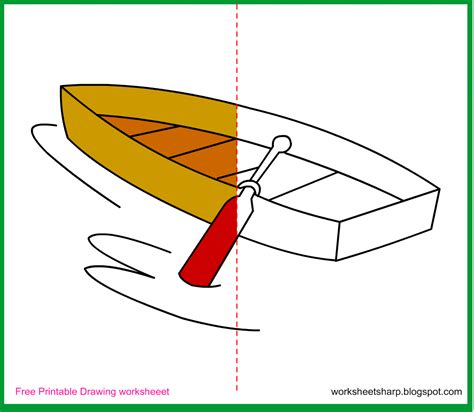 drawing for free free drawing worksheets printable boat drawing worksheets