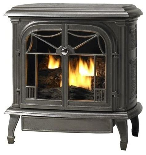 customizable cast iron stove with gas burner system
