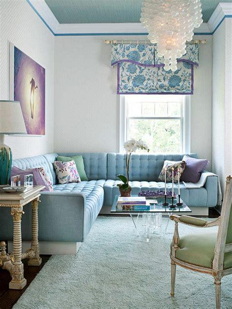 blaue farbpalette fuer das interior ihrer wohnung