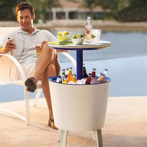 Cooler Patio Table Outdoor Side Table Beverage Cooler The Green