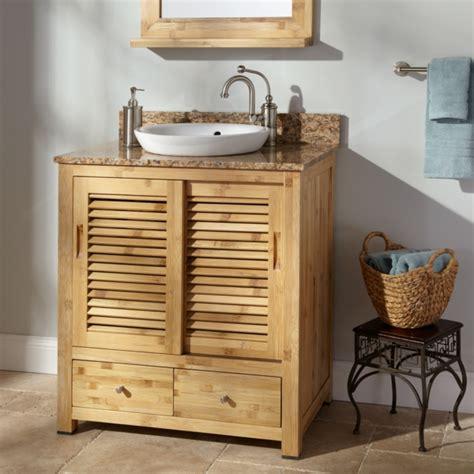 Badezimmer Unterschrank Lamellen by Waschbeckenunterschrank Aus Bambus