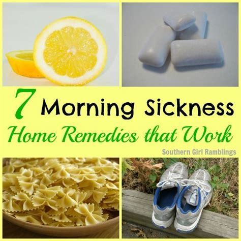 7 morning sickness home remedies that work morning