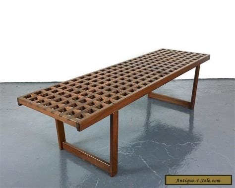 teak bench for sale vintage mid century danish modern teak bench coffee table