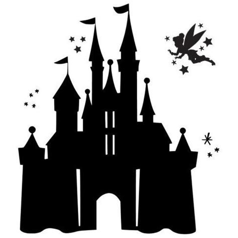 castle clipart tinkerbell pencil and in color castle