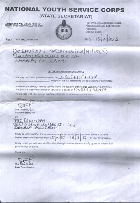 Request Letter Format For Nysc unpaid nysc allowance nysc nigeria