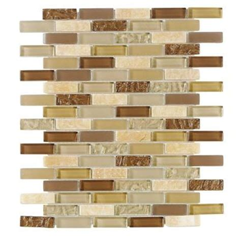 Home Depot Brick Tile by Jeffrey Court Sunwashed Mini Brick 12 In X 12 In X 8 Mm
