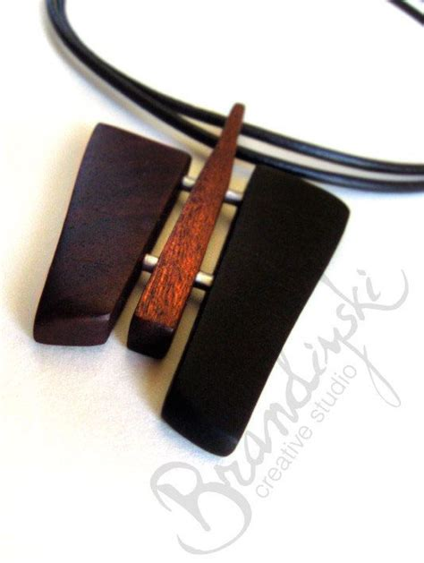 Handmade Wooden Jewelry - wooden jewelry original handmade wooden necklace black