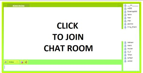 Free Chat Room Without Registration Pakistan chat rooms