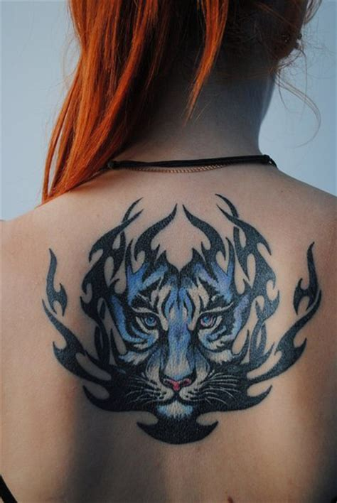 blue tribal tattoo tiger blue pictures to pin on tattooskid