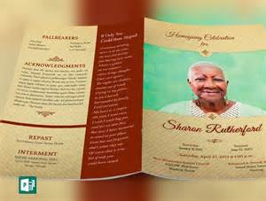 Funeral Program Templates Publisher by Home Going Funeral Program Publisher Template