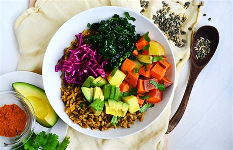 recipes with whole grains and vegetables curry spice vegetable and grain bowl recipe by