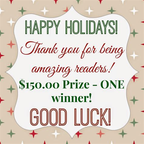 Happy Giveaway - happy holidays giveaway sarah halstead