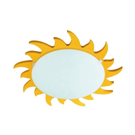 Sun Ceiling Light Philips 70614 06 48 Kidsplace Sun Flushmount Ceiling Or Wall Light Yellow To Ceiling