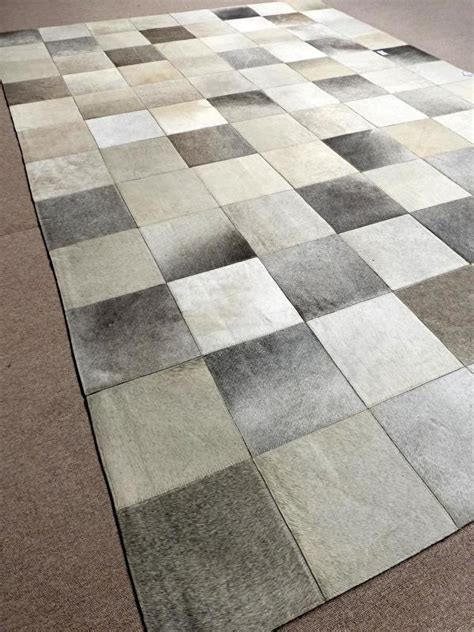 Grey Patchwork Cowhide Rug Grey Cowhide Patchwork Rug 200 X 300 Cm 1 Readily