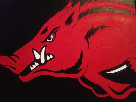 86 best razorback hog crafts images on arkansas razorbacks razorback painting and