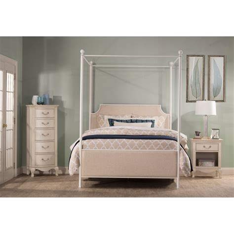 white queen canopy bed 19761999bcq 2