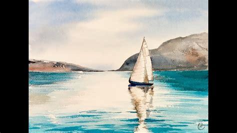 sailing boat watercolour watercolor sailboat www pixshark images galleries