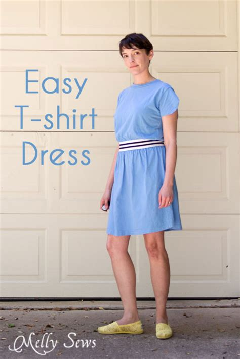 pattern to sew t shirt dress easy t shirt dress tutorial melly sews