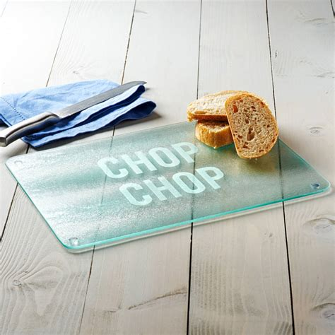 chop chop glass chopping board by becky broome