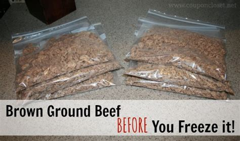 how to freeze ground beef or ground turkey brown it first coupon closet