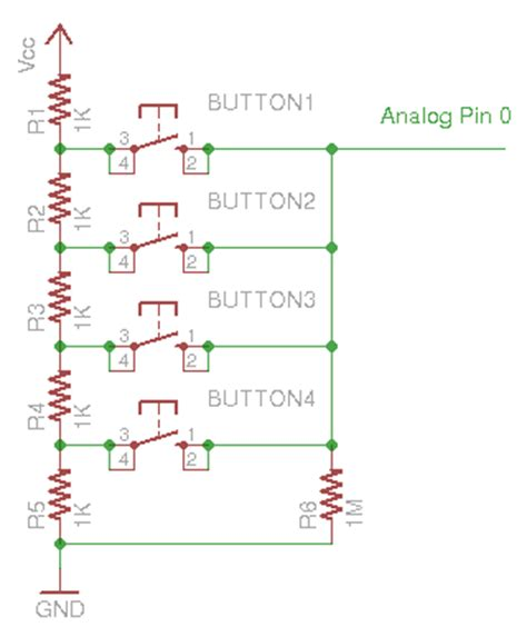 arduino resistor analog input button inputs using arduino analog pin 171 rayshobby net