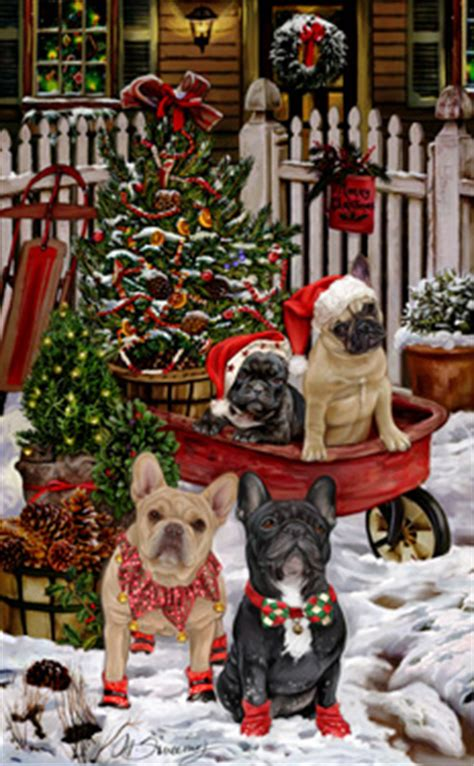 shop  cards french bulldog christmas cards