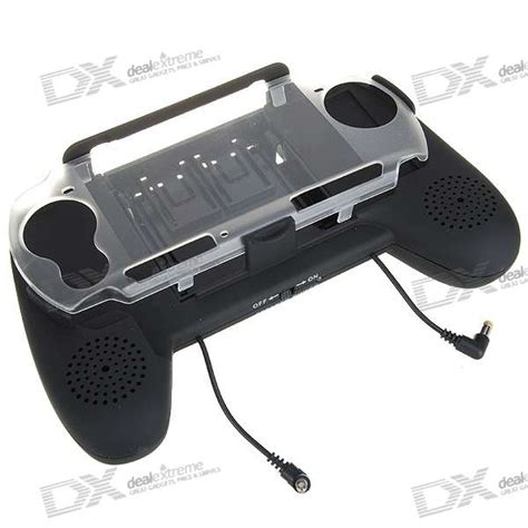 Handgrip Psp 3 aaa powered battery pack grip lified speakers for psp 3000 free shipping dealextreme