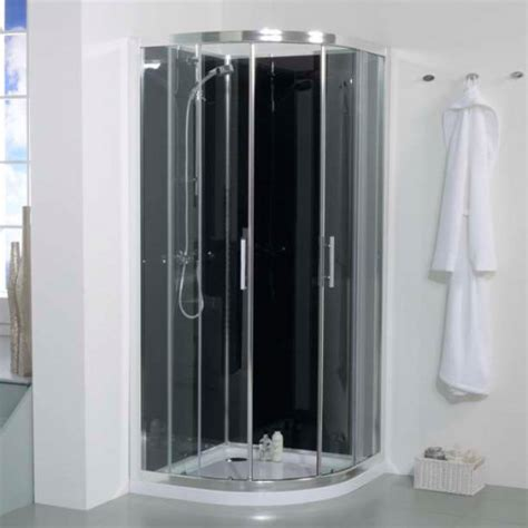 better bathrooms showers 900 quadrant shower cabin with black back panels