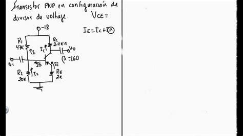 transistor bjt como lificador emisor comun lificadores con bjt con transistor pnp configuraci 243 n de divisor de voltaje