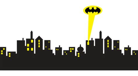 Police Home Decor by Gotham City Skyline Batman Decal Removable Wall By Printadream
