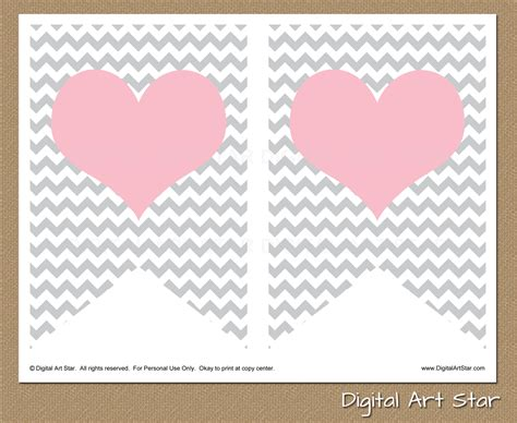 digital art star printable party decor february 2014
