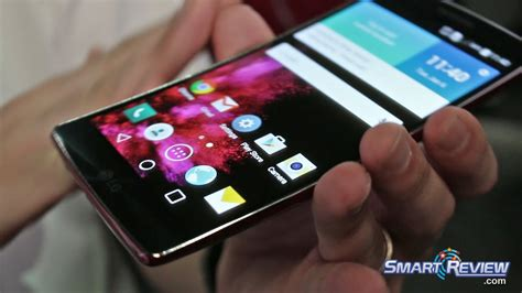 oled mobile ces 2015 lg flex 2 curved cell phone demo android 5 0