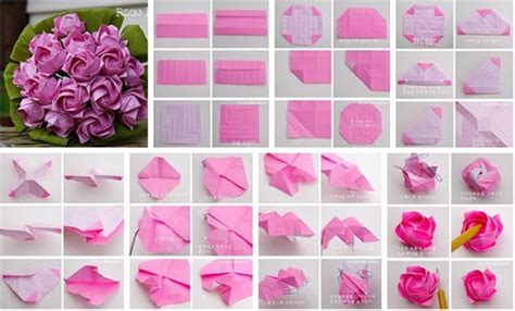 Easy Origami Roses - how to make an origami