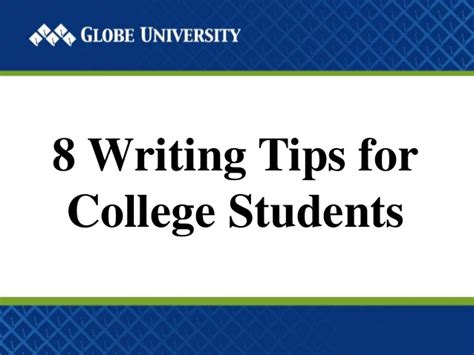 8 Tips For College Students 8 writing tips for college students