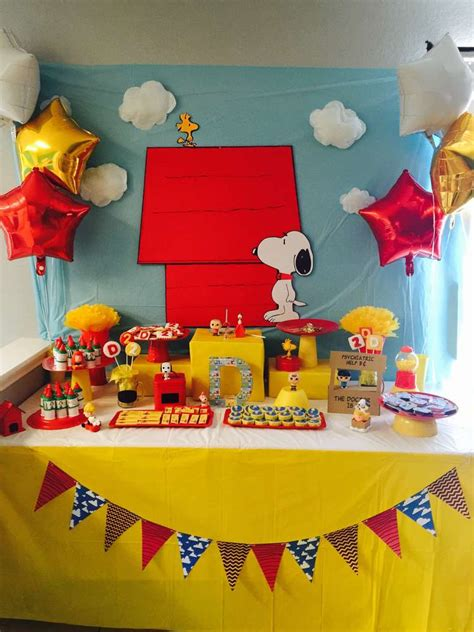 printable snoopy birthday decorations snoopy and friends birthday party ideas photo 1 of 16