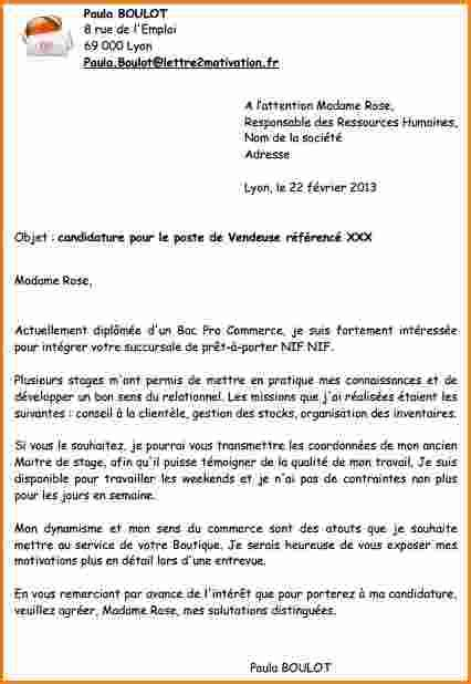 Exemple Lettre De Motivation Candidature Spontanée 10 Lettre De Motivation Candidature Spontan 233 E Vendeuse Exemple Lettres