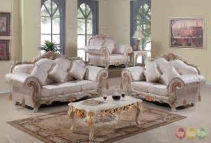 Furniture Set For Living Room Luxurious Traditional Formal Living Room Set Antique White Carved Wood