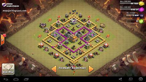 coc level 7 war base desain trophy base th level 7 coc cepat meningkatkan