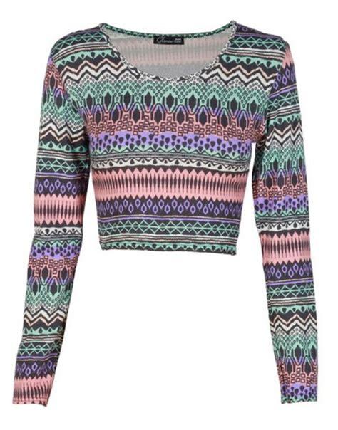 tribal pattern crop top shirt tribal pattern crop tops wheretoget