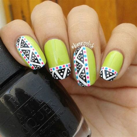 easy nail art green top 15 beautiful nail art designs at home without tools