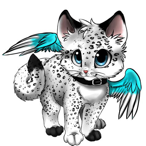 Cute Anime Cat With Wings Drawings | winged kitten adoptable closed by okami heart on deviantart