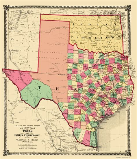 texas indian territory map txzz0091 a jpg