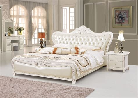 American Style Bedroom Furniture by The Modern Designer Leather Soft Bed Large